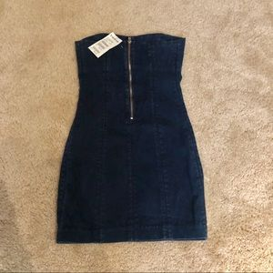 bebe Dresses - NWT Denim Strapless Mini Dress from Bebe Size XS